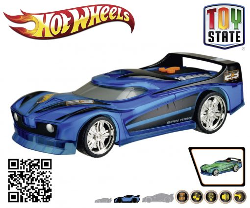 Hot Wheels Hyper Racer Spin King Auto BLAU
